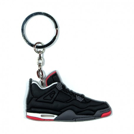Air Jordan 4 Black Cement Silicone Keychain - LA SNEAKERIE