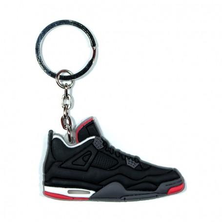 Porte-Clés Silicone Air Jordan 4 Black Cement - LA SNEAKERIE