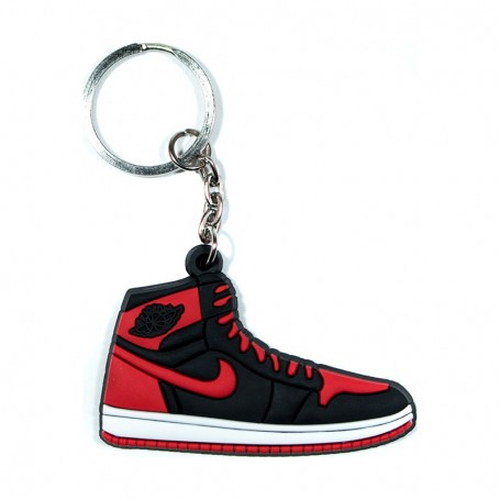 Porte-Clés Silicone Air Jordan 1 Bred | La Sneakerie