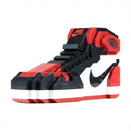 Air Jordan 1 Bred Toe Brick Toy   La Sneakerie