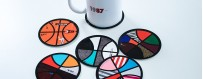 Coasters - For the aperitif, take them out the big game